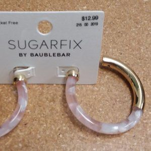 SUGARFIX by BaubleBar Blush Acrylic Hoop Earrings